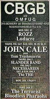 CBGB with John Cale